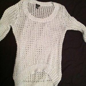Jrs sz XL RUE 21 mint green open weave sweater